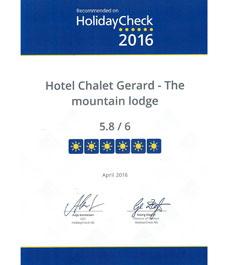 Award HolidayCheck 2016