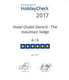 Award HolidayCheck 2017