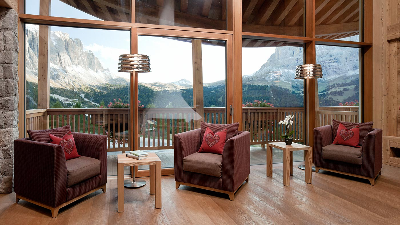 A beautiful view at Chalet Gerard in Selva Val Gardena